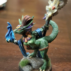 Picture of print of Coaxoch the Duchess - Lizards Beauty (Fantasy Pin-Up)