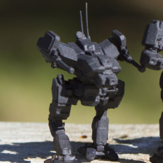 Picture of print of LCT-1V Locust for Battletech