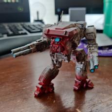 "Picture of print of Warhawk Prime, AKA ""Masakari"" for Battletech"