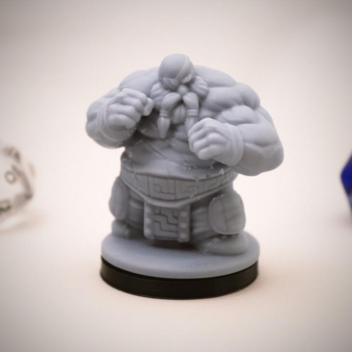 Dwarf Brawler Miniature