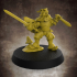 Male Gnome Fighter - 32mm scale miniature image