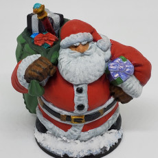 Picture of print of Dwarven Santa Miniature 这个打印已上传 Tim Beck