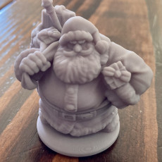 Picture of print of Dwarven Santa Miniature 这个打印已上传 Marcus Whitt