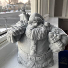Picture of print of Dwarven Santa Miniature 这个打印已上传 Jeremy Babcock
