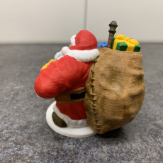 Picture of print of Dwarven Santa Miniature 这个打印已上传 Aaron Gruber