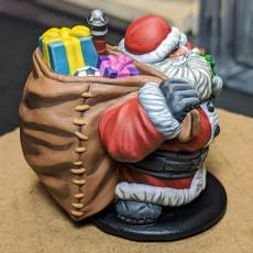 Picture of print of Dwarven Santa Miniature