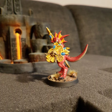 Picture of print of Goldmaw Lizard - 2 Modular Units (Ladies)