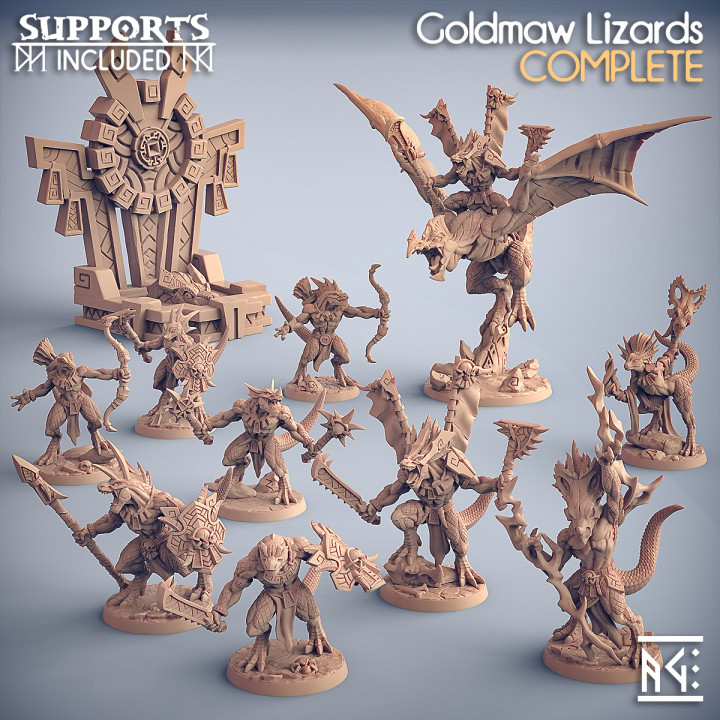 COMPLETE Goldmaw Lizards (presupported)
