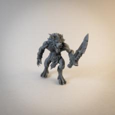 Werewolf Hybrid Form Barbarian