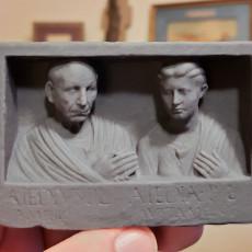 Picture of print of Grave relief of Publius Aiedius and Aiedia