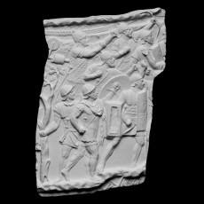 Trajan's Column [CXV] Roman Soldiers Attacking