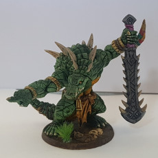Picture of print of Zantharot the Lizard Champion