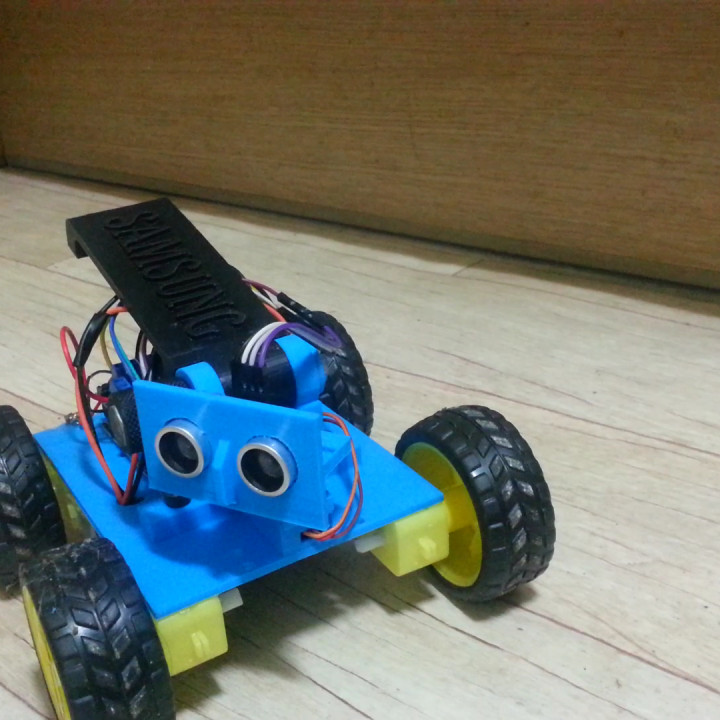 Create a robot car to avoid obstacles