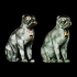 Chinese Porcelain Pug Dog A (One of a Pair) image