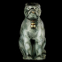 Chinese Porcelain Pug Dog B (One of a Pair) image