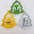 Christmas tree ornament_pencil toppers or ooshies decoration image