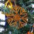 snow flake Christmas tree ornament image