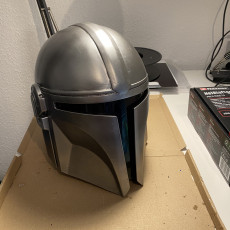 Picture of print of Mandalorian Helmet - v2 This print has been uploaded by Frederik Pütz
