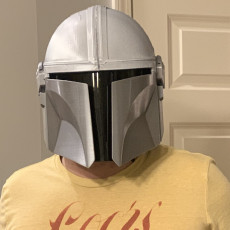Picture of print of Mandalorian Helmet - v2 This print has been uploaded by Jeffery Hoops