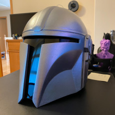 Picture of print of Mandalorian Helmet - v2 This print has been uploaded by Aaron A
