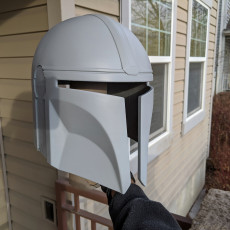 Picture of print of Mandalorian Helmet - v2 This print has been uploaded by Michael Fearn