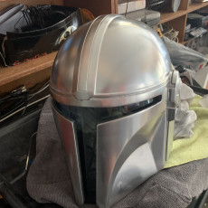Picture of print of Mandalorian Helmet - v2 This print has been uploaded by Phil Colvin
