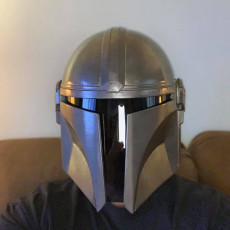 Picture of print of Mandalorian Helmet - v2 This print has been uploaded by Thomas Moser