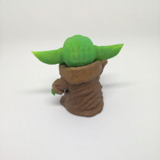 Picture of print of Baby Yoda Smiling