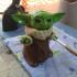 Baby Yoda Smiling print image