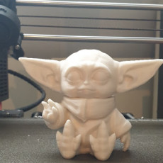 Picture of print of Baby Yoda