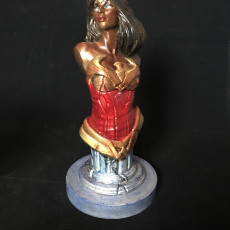 Picture of print of Wonder Woman bust 这个打印已上传 Mark Brown