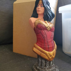 Picture of print of Wonder Woman bust
