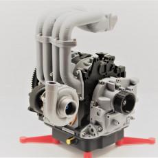 Mazda RX7 Wankel Rotary Engine 13B-REW - Working Model