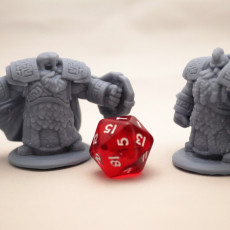 Picture of print of 3 x Dwarven Infantry Miniatures Pack 01