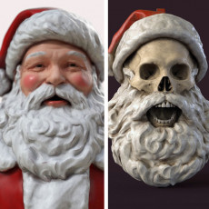 Santa Bust & Ornament Bundle