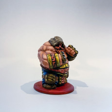 Picture of print of Dwarf Brawler Variant Miniature