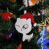 Christmas tree ornament_snow cat with Santa hat image