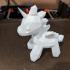 Low Poly Unicorn print image