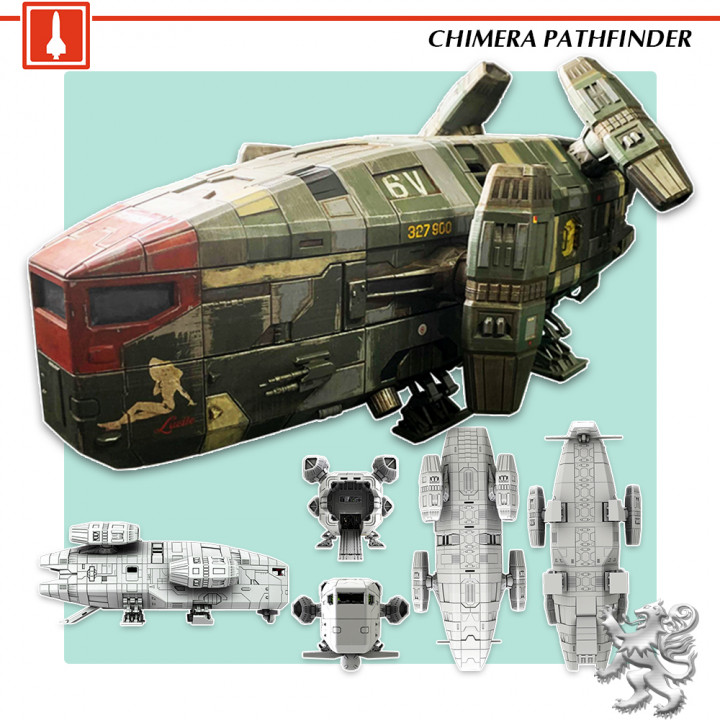 Starship Chimera Pathfinder STL Files's Cover