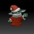 Santa Hat Baby Yoda with Holocron image