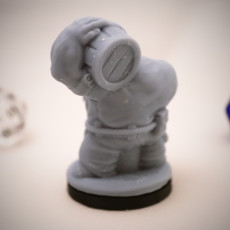 Picture of print of Dwarven Barkeep Miniature