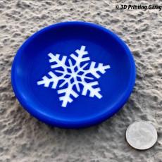 Coaster - winter (snowflake) - multicolor