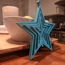 Spinning Stars Snowflake Ornament (print in place)