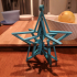 Spinning Stars Snowflake Ornament (print in place) image