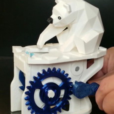 Picture of print of Polar Bear with Seal (automata)