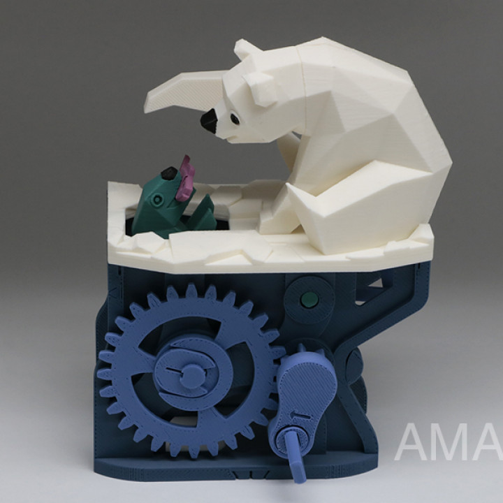 Polar Bear with Seal (automata)