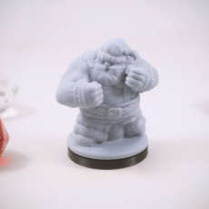 Picture of print of Dwarven Brawling Santa Miniature