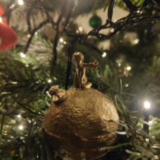 Picture of print of The Little Prince - Star and Rose Christmas Tree Bauble