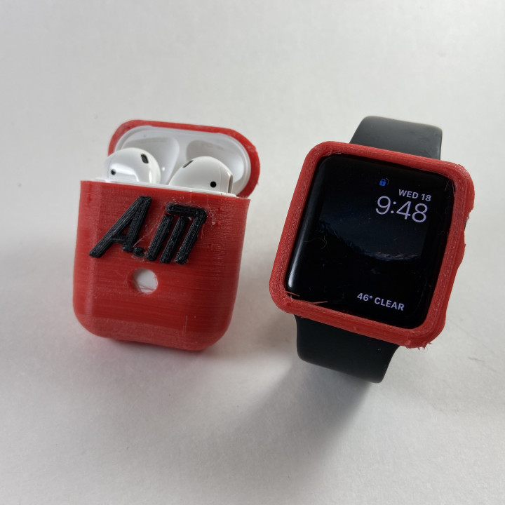 3d Printable Custom Apple Watch And Airpod Case By Aaed Musa