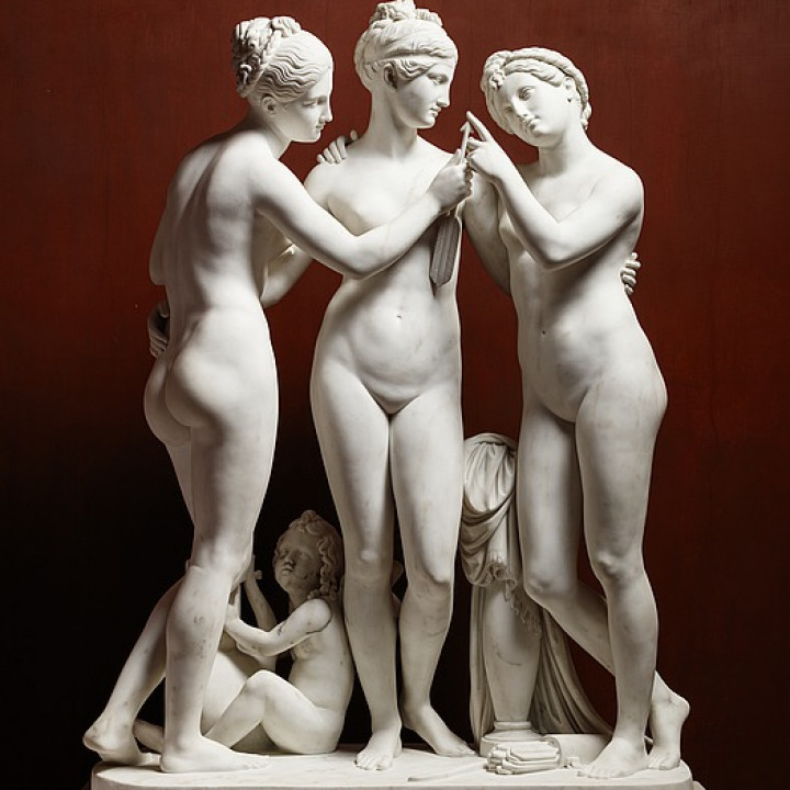 The Graces with Cupid's Arrow, and Cupid with the Lyre